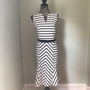 Black and white mermaid style dress